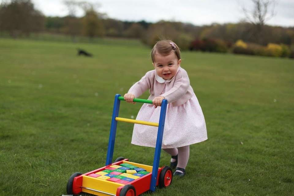 Princess Charlotte poses at Anmer Hall in Norfolk,