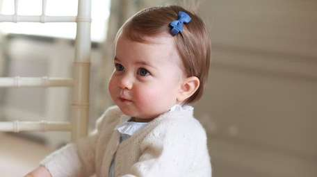Britain's Princess Charlotte poses at Anmer Hall in