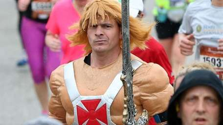 Ethan Hauser, of Lindenhurst, runs the half marathon