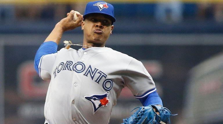 Marcus Stroman #6 of the Toronto Blue