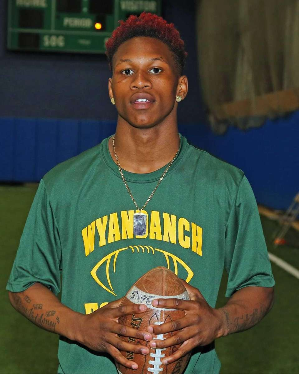 Wyandanch's Alonte Shipp poses for a photo during