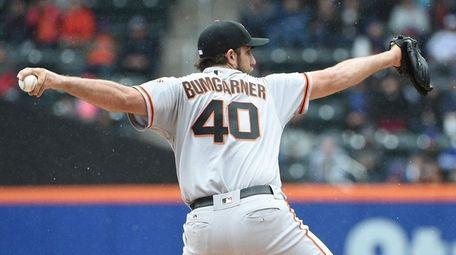 San Francisco Giants starting pitcher Madison Bumgarner