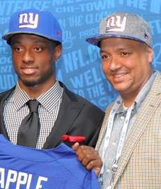Giants first-round pick Eli Apple with his stepdad