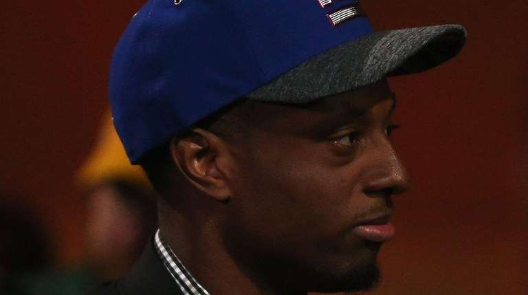 Eli Apple of Ohio State reacts after