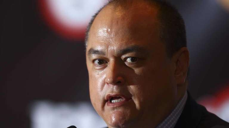 Scott Coker speaks during the Bellator 158 MMA