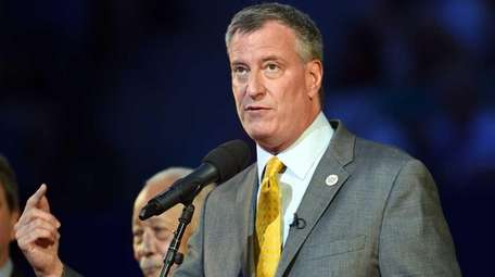 Mayor Bill de Blasio, shown here on May