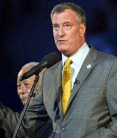Mayor Bill de Blasio, shown here on May