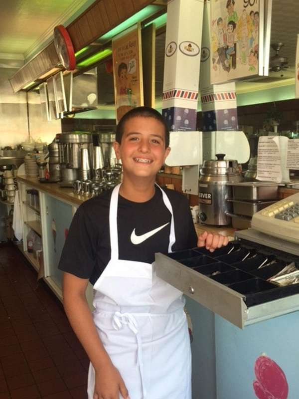 Kidsday reporter Paul Guillo at Sip'n Soda in