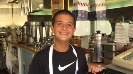 Kidsday reporter Paul Guillo at Sip'n Soda in
