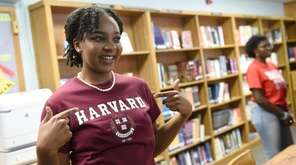 Elmont Memorial High School valedictorian Augusta Uwamanzu-Nna, who