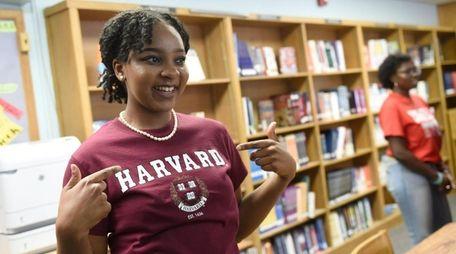 Elmont Memorial High School valedictorian Augusta Uwamanzu-Nna, who