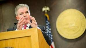 Suffolk County Executive Steve Bellone adresses legislators