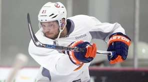 Kyle Okposo takes a shot at Islanders