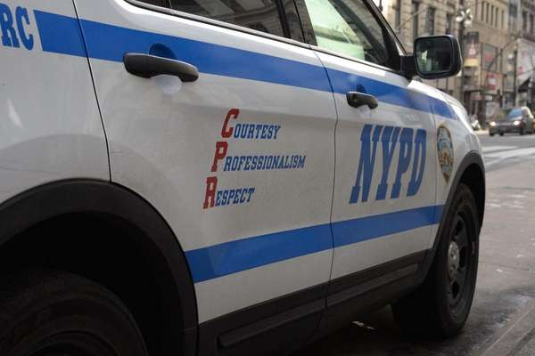 A NYPD vehicle is seen in this undated