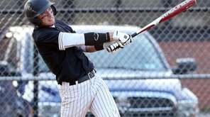 Wantagh's Jimmy Joyce hits an RBI double to