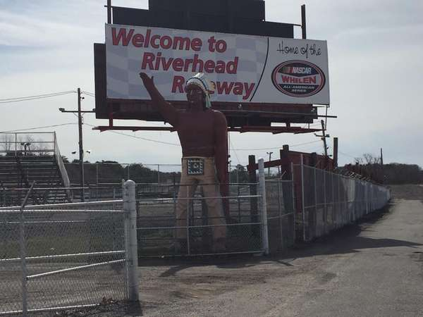 The entrance to Riverhead Raceway in Riverhead is