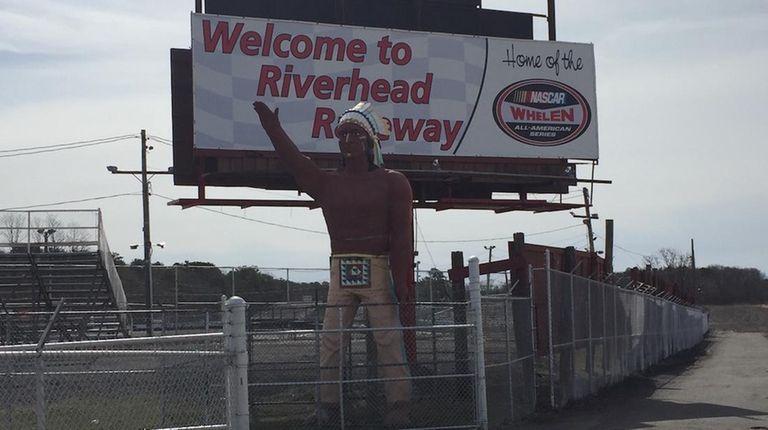 The entrance to Riverhead Raceway in Riverhead is