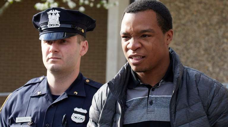Christopher James leaves the Third Precinct in Bay