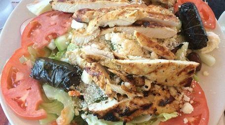 The Greek salad at Lynbrook Eats, the new