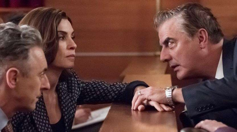 Alan Cumming, left, Julianna Margulies, Chris Noth and