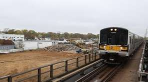 The Copiague Commons construction site seen from the