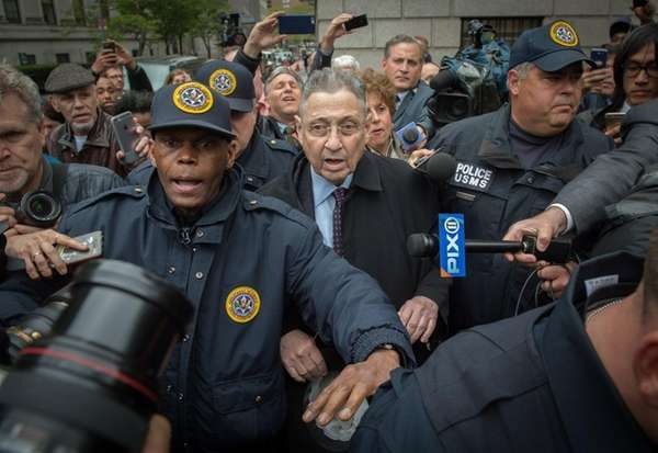 Former State Assembly Speaker Sheldon Silver leaves federal