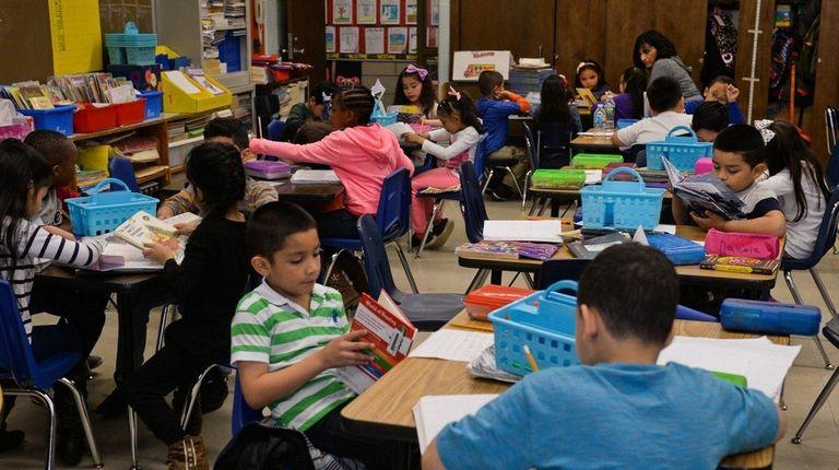A first-grade class at the Archer Street School