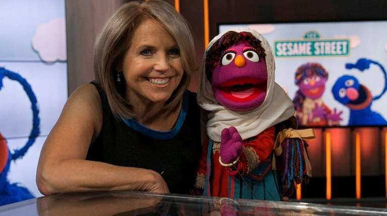 Katie Couric interviews Zari, the first female muppet