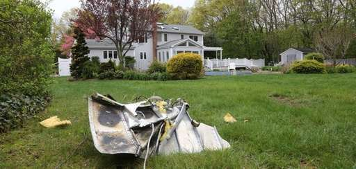 Debris from a fatal plane crash Tuesday, May