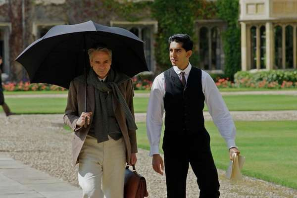 Jeremy Irons, left, and Dev Patel in