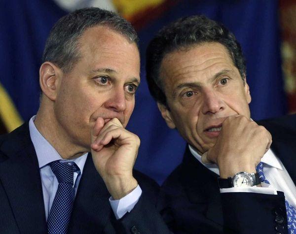 Attorney General Eric Schneiderman and Gov. Andrew Cuomo