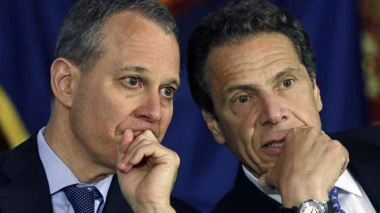 Attorney General Eric Schneiderman and Gov. Andrew Cuomo