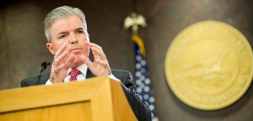 Suffolk County Executive Steve Bellone addresses legislators and