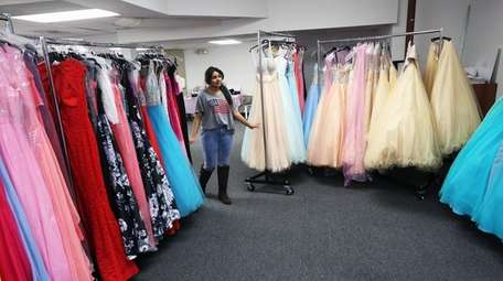 This year's Project Prom winner, Nabila Alim, 18,