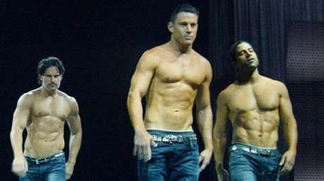 Channing Tatum, second from right in this scene
