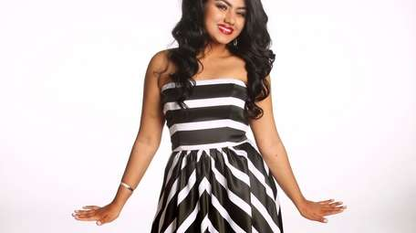 Black-and-white stripes provide graphic pop and maximum impact