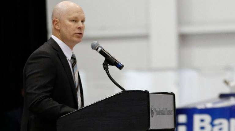 New Jersey Devils head coach John Hynes