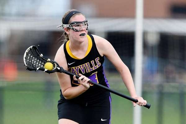 Sayville High School midfielder Kaitlyn Wandelt on April