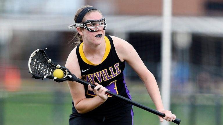Sayville High School midfielder Kaitlyn Wandelt on April