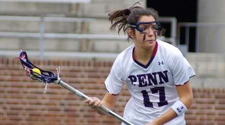 Penn's Nina Corcoran, lacrosse player from Point Lookout.