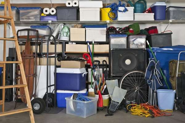A messy, disorganized garage is just crying out