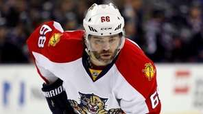 The Florida Panthers' Jaromir Jagr plays against
