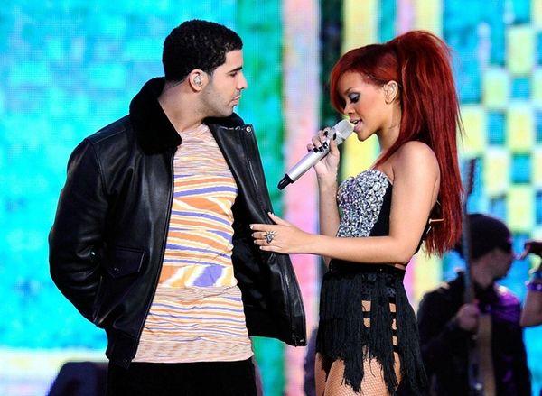 Drake and Rihanna perform during the 2011 NBA
