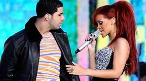 Drake and Rihanna perform during the 2011 NBA