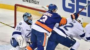 Tampa Bay Lightning goalie Ben Bishop (30)