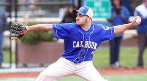 Calhoun's Jake Gargiulo on the mound during a