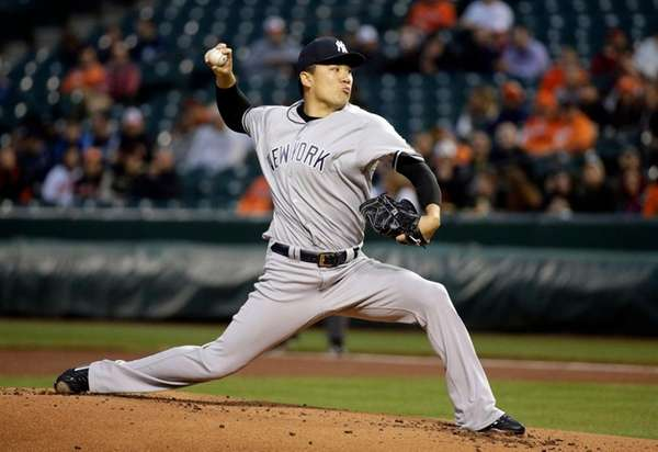 New York Yankees starting pitcher Masahiro Tanaka, of