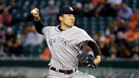 New York Yankees starting pitcher Masahiro Tanaka, of