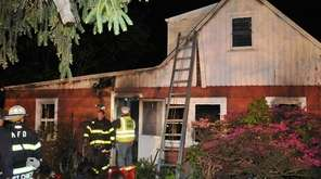 Huntington Manor and other fire departments respond to