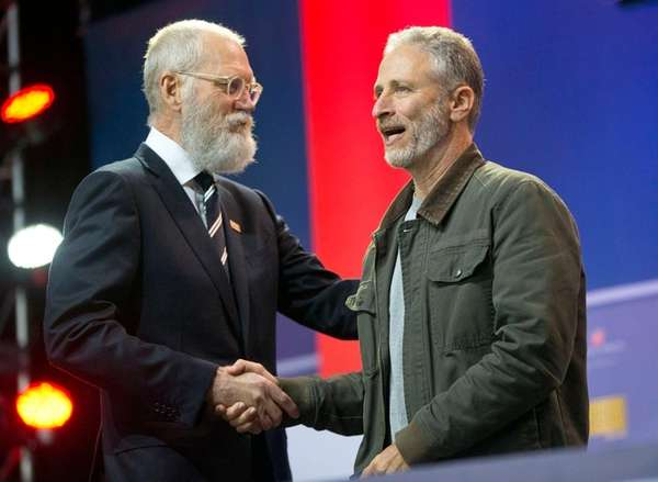 Former late-night talk show host David Letterman,
